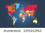 color world map vector | Shutterstock .eps vector #1291012963