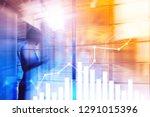 financial growth graph. sales... | Shutterstock . vector #1291015396