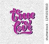 hand drawn lettering... | Shutterstock .eps vector #1291015810