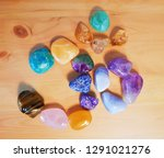 aum  om  sign made of... | Shutterstock . vector #1291021276