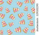 pattern cupcake jpg | Shutterstock . vector #129102290