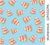 pattern cupcake jpg | Shutterstock . vector #129102296