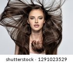 face of the beautiful woman... | Shutterstock . vector #1291023529