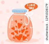 valentine's day greeting card.... | Shutterstock .eps vector #1291028179