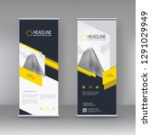 roll up banner stand brochure...   Shutterstock .eps vector #1291029949
