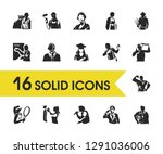 person icons set with... | Shutterstock . vector #1291036006