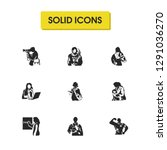 people icons set with vet ... | Shutterstock . vector #1291036270