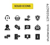help icons set with hand world  ...