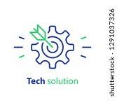 technology solution  target... | Shutterstock .eps vector #1291037326