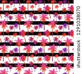 seamless pattern with palm... | Shutterstock .eps vector #1291038070
