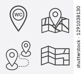 map and location vector icon...