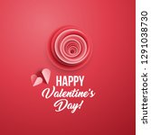 happy valentine's day greeting... | Shutterstock .eps vector #1291038730
