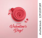 happy valentine's day greeting... | Shutterstock .eps vector #1291039189