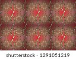 vintage seamless pattern on a... | Shutterstock . vector #1291051219