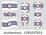 flag of cincinnati  ohio   Shutterstock .eps vector #1291057813