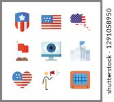 9 government icon. vector...   Shutterstock .eps vector #1291058950