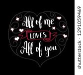 valentines day quote for... | Shutterstock .eps vector #1291059469