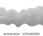 black and white mobious wave... | Shutterstock .eps vector #1291060393