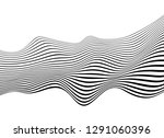 black and white mobious wave... | Shutterstock .eps vector #1291060396