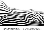 black and white mobious wave... | Shutterstock .eps vector #1291060423