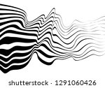 black and white mobious wave... | Shutterstock .eps vector #1291060426