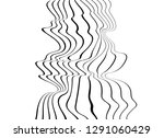 black and white mobious wave... | Shutterstock .eps vector #1291060429