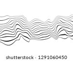 black and white mobious wave... | Shutterstock .eps vector #1291060450