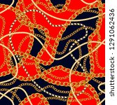 seamless pattern with golden... | Shutterstock .eps vector #1291062436