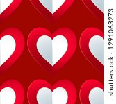 seamless colorful vector hearts ... | Shutterstock .eps vector #1291063273