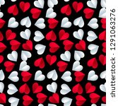 seamless colorful vector hearts ... | Shutterstock .eps vector #1291063276