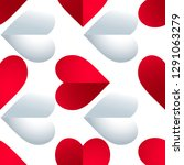 seamless colorful vector hearts ... | Shutterstock .eps vector #1291063279