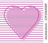 happy valentines day heart... | Shutterstock .eps vector #1291064089