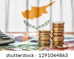 euro banknotes and coins in...   Shutterstock . vector #1291064863