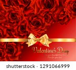 beautiful romantic card for... | Shutterstock .eps vector #1291066999
