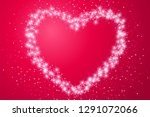 valentine's day holiday card... | Shutterstock .eps vector #1291072066