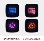 neon glow lights. set of... | Shutterstock .eps vector #1291073026