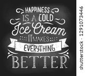 summer inspirational chalkboard ... | Shutterstock .eps vector #1291073446