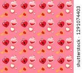 valentine's day pattern  | Shutterstock .eps vector #1291074403
