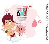 valentine's day background  | Shutterstock .eps vector #1291074409