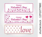 valentines day banner. 14... | Shutterstock .eps vector #1291077880