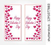 valentines day banner. 14... | Shutterstock .eps vector #1291077883