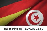 germany and tunisia two flags...   Shutterstock . vector #1291082656