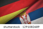 germany and serbia two flags...   Shutterstock . vector #1291082689