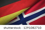 germany and norway two flags...   Shutterstock . vector #1291082710