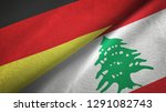 germany and lebanon two flags...   Shutterstock . vector #1291082743