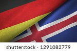 germany and iceland two flags...   Shutterstock . vector #1291082779