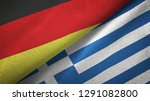 germany and greece two flags...   Shutterstock . vector #1291082800