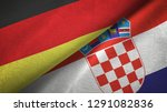 germany and croatia two flags...   Shutterstock . vector #1291082836
