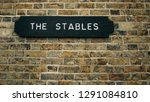 """stables sign indicating """"the... 