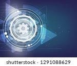 abstract vector technology...   Shutterstock .eps vector #1291088629